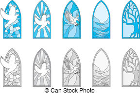 288x194 Stained Glass Clipart Vector