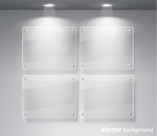 533x463 Window Glass Exhibition Spotlights Vector Free Vector In