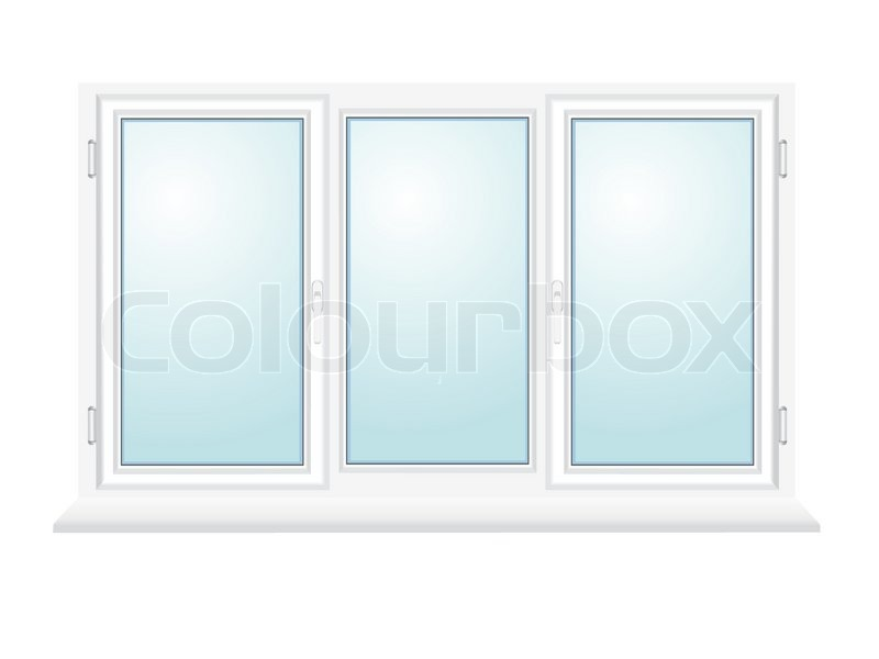 800x600 Closed Plastic Glass Window Vector Illustration Isolated On White