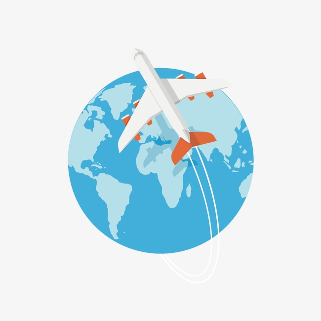 650x650 Vector Global Travel, Global Travel, Aircraft, Earth Png And