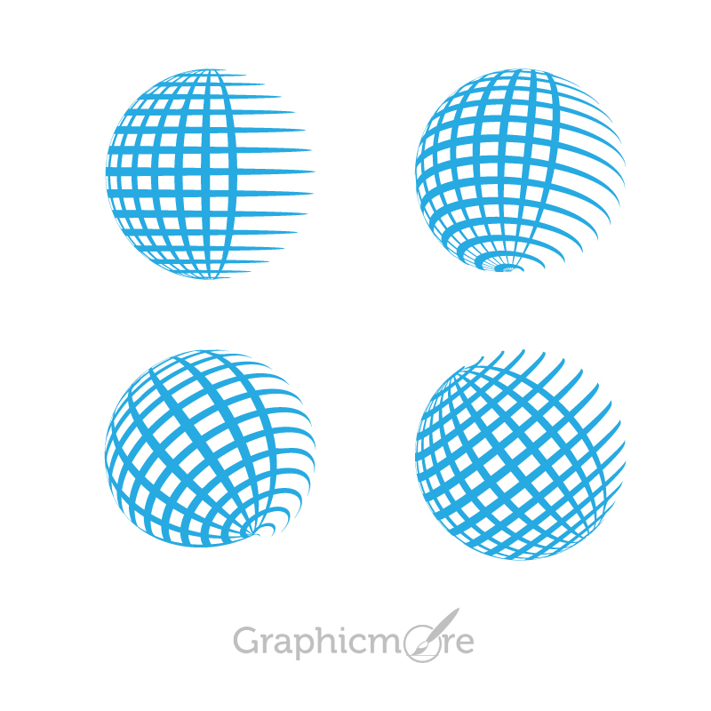 800x800 Globe Grid Shape Icons Design Free Vector File Download