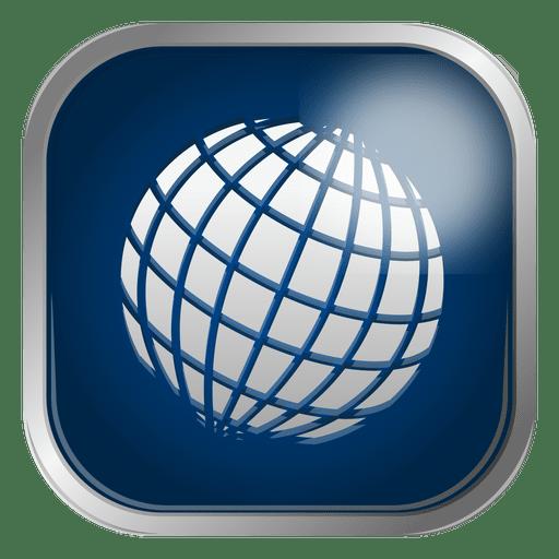 512x512 Globe Grid Icon