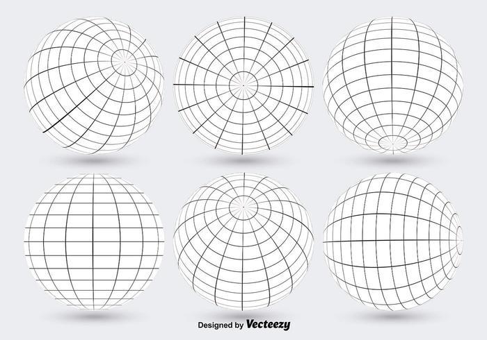 700x490 White Globe Grid Vectors