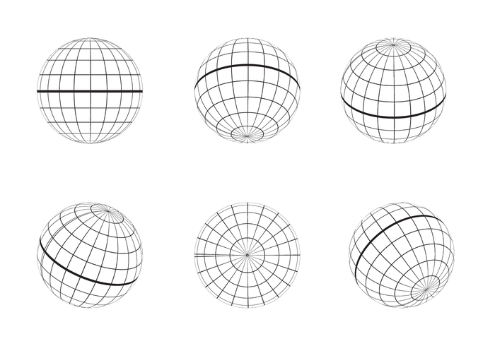 700x490 Free Globe Grid Outline Vector