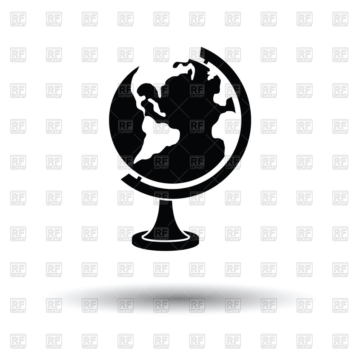 1200x1200 Globe Icon Vector Image Vector Artwork Of Signs, Symbols, Maps