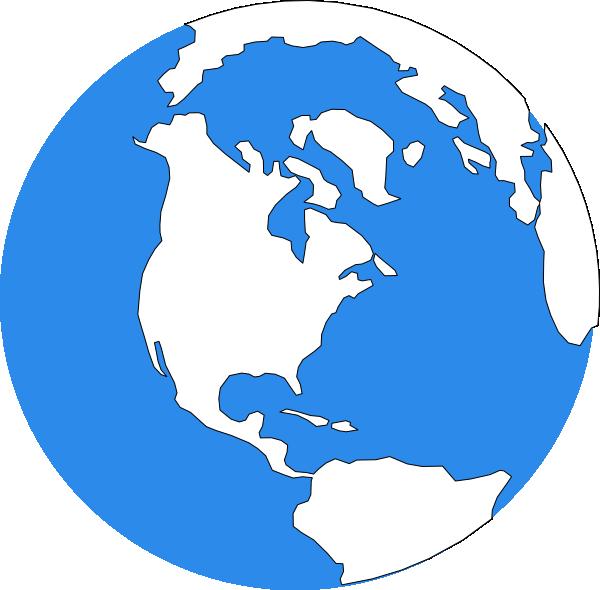 600x590 Blue Earth Icon Clip Art