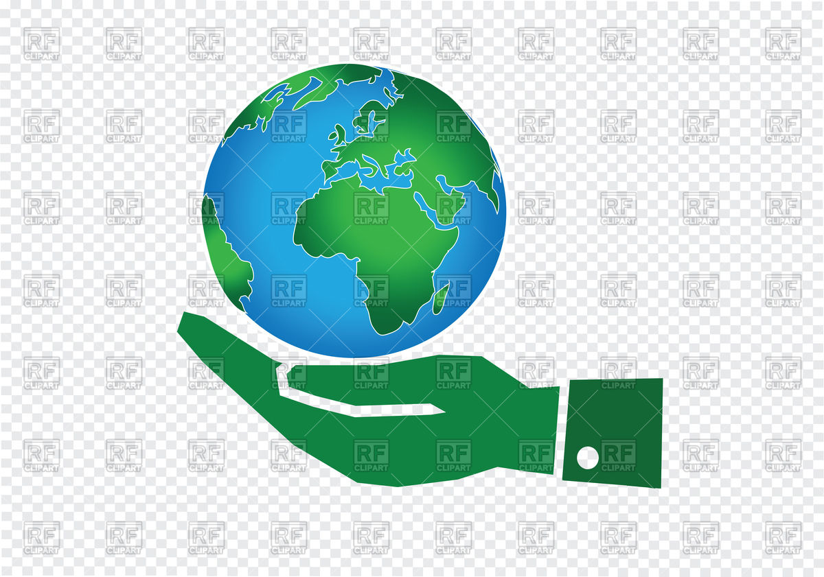 1200x841 Green Hand Holding World Globe Icon Vector Image Vector Artwork