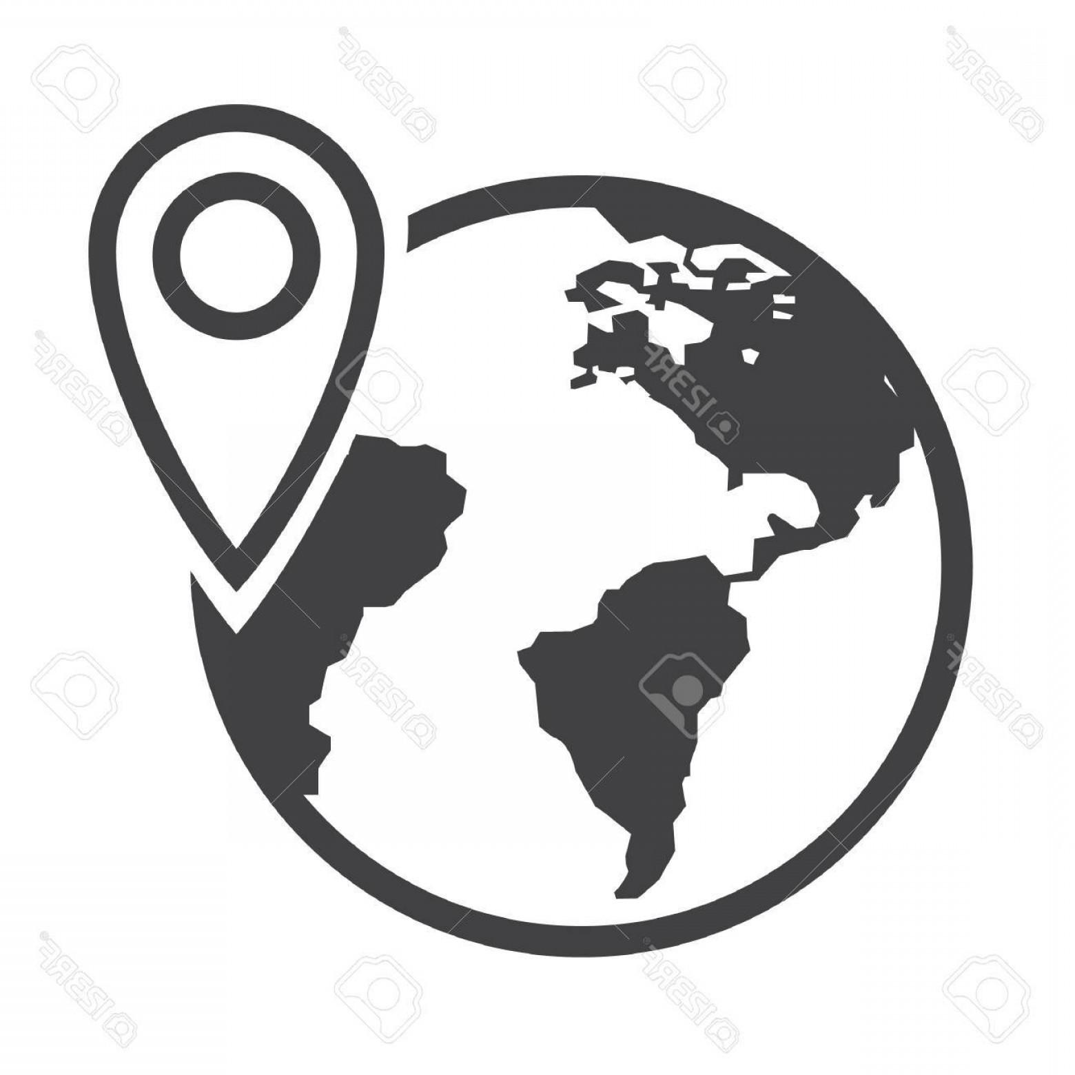 1560x1560 Photosimple Flat Black Globe Icon Vector Shopatcloth