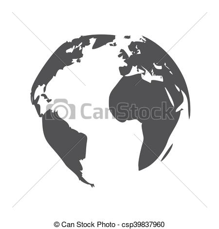 450x470 Planet Earth Icon. Planet Earth, Modern Flat Icon.