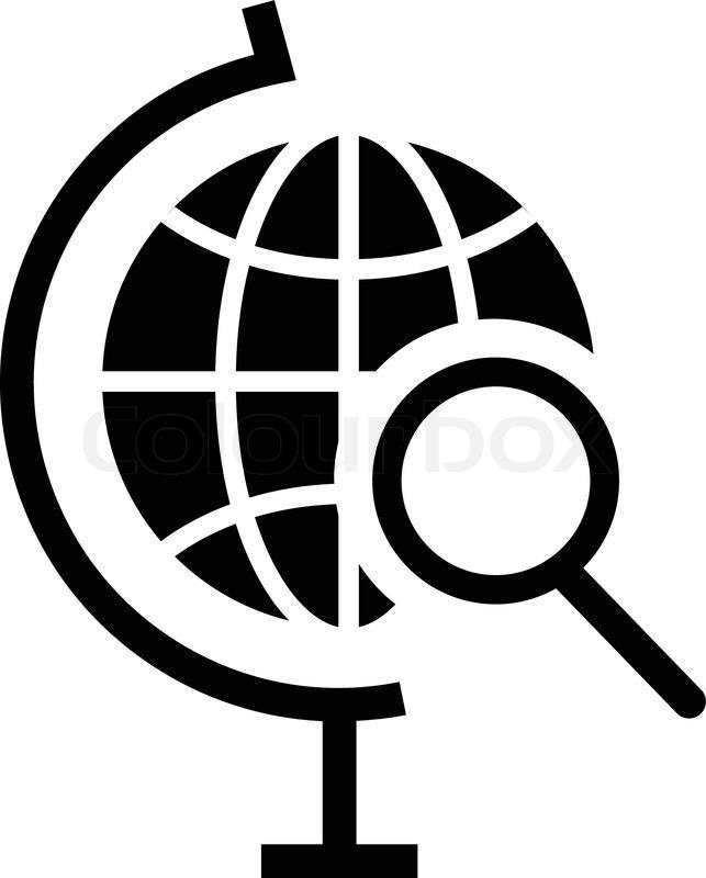 643x800 Vector Globe Search Icon Stock Vector Colourbox