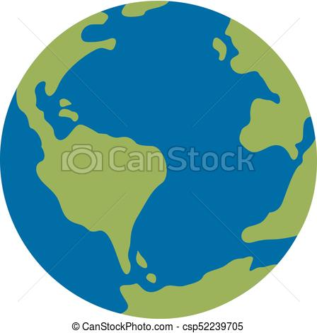 448x470 Vector Planet Earth Icon. Flat Planet Earth Icon. Elat... Vector