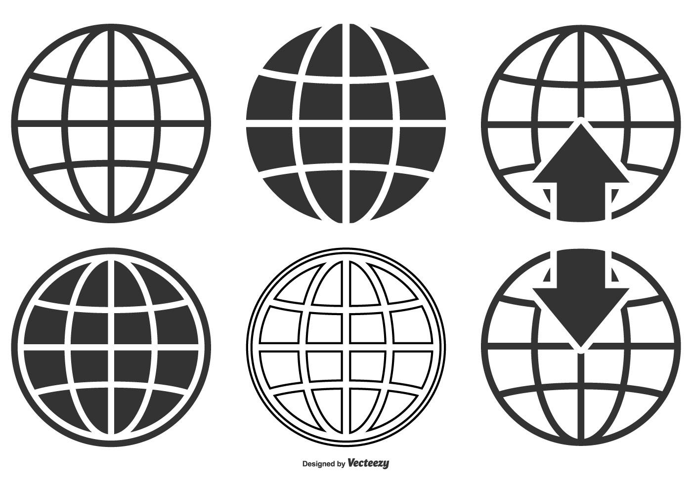 1400x980 Globe Free Vector Art
