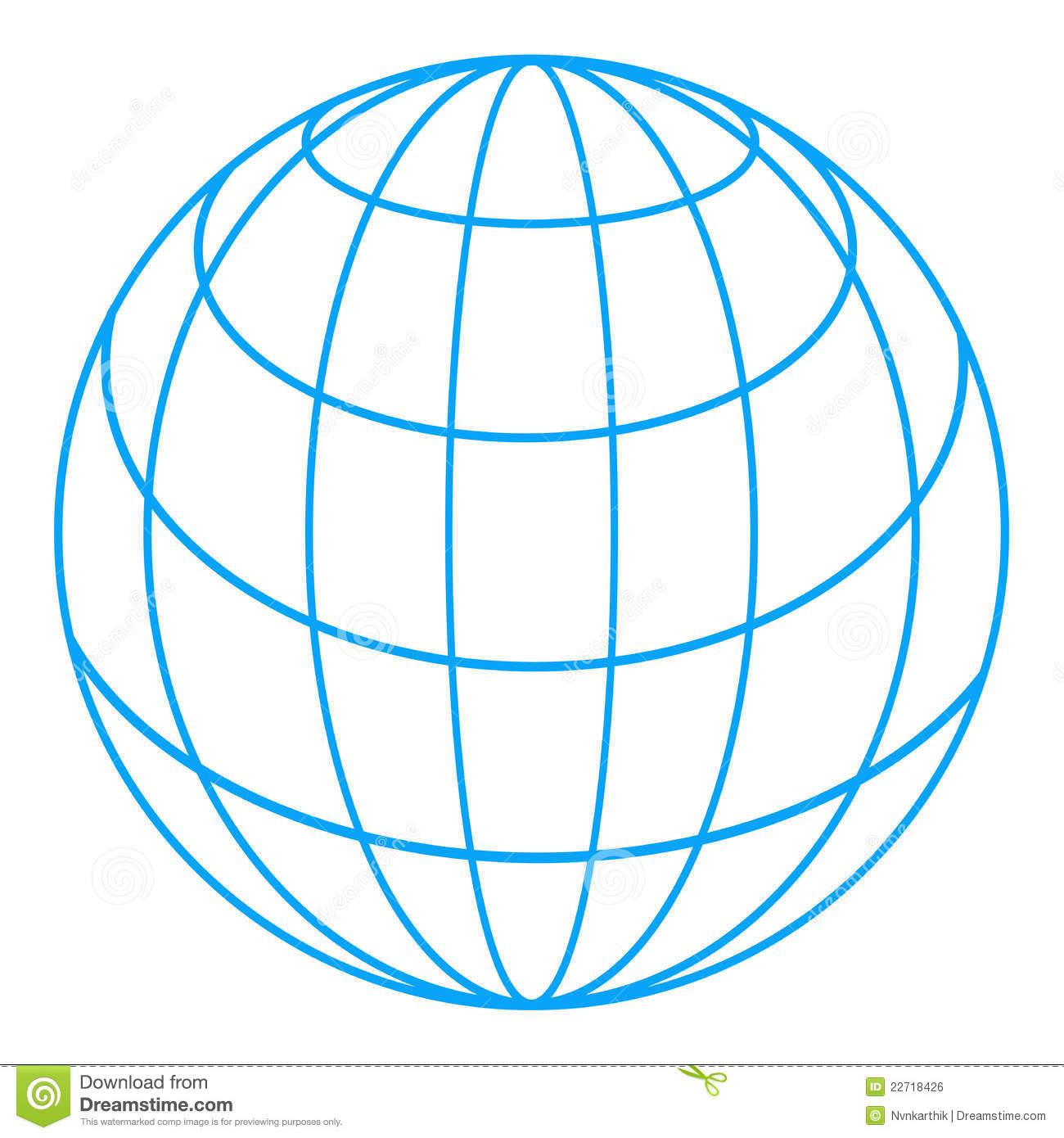 Globe Lines Vector