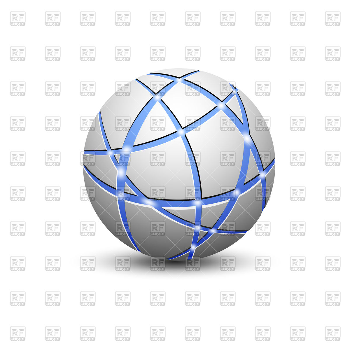 1200x1200 Abstract Globe Icon With Communication Lines Vector Image Vector