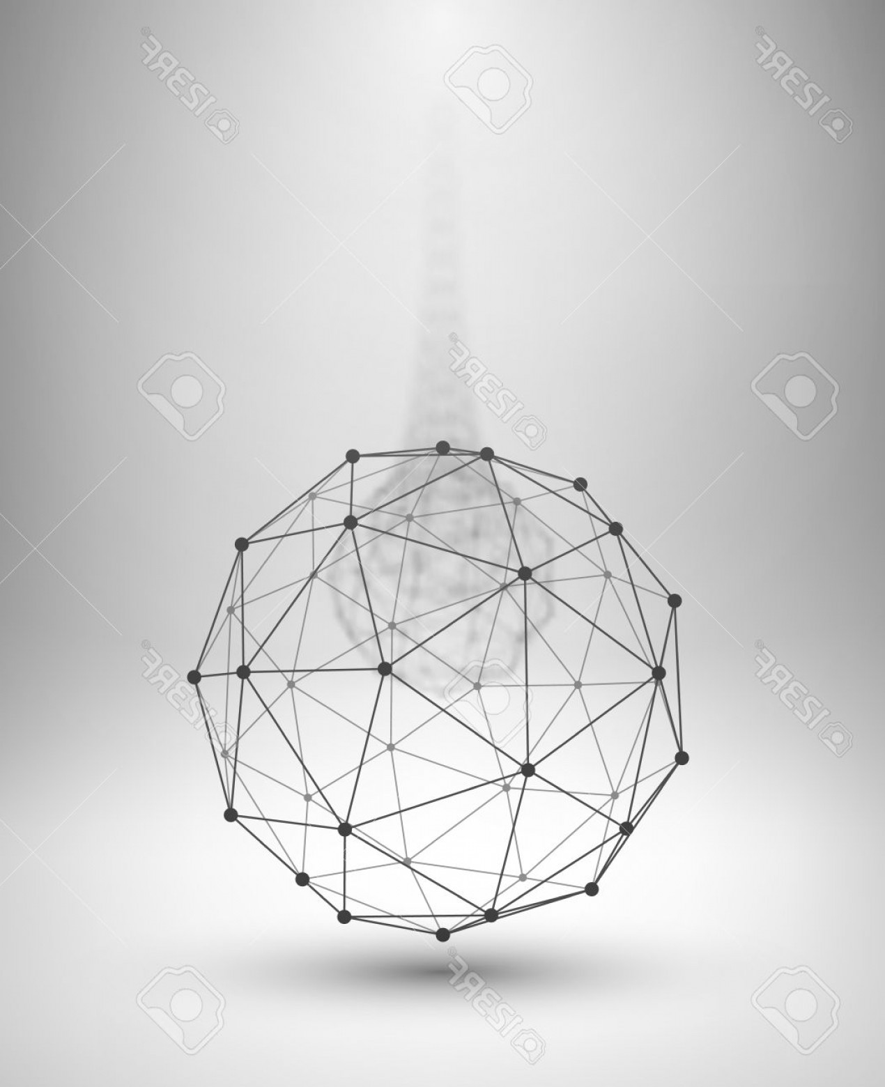 1270x1560 Photostock Vector Wireframe Globe Sphere With Connected Lines And