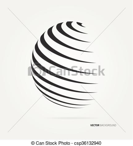 431x470 Vector Globe Icon. Abstract Image Of A Globe Lines. Vector.