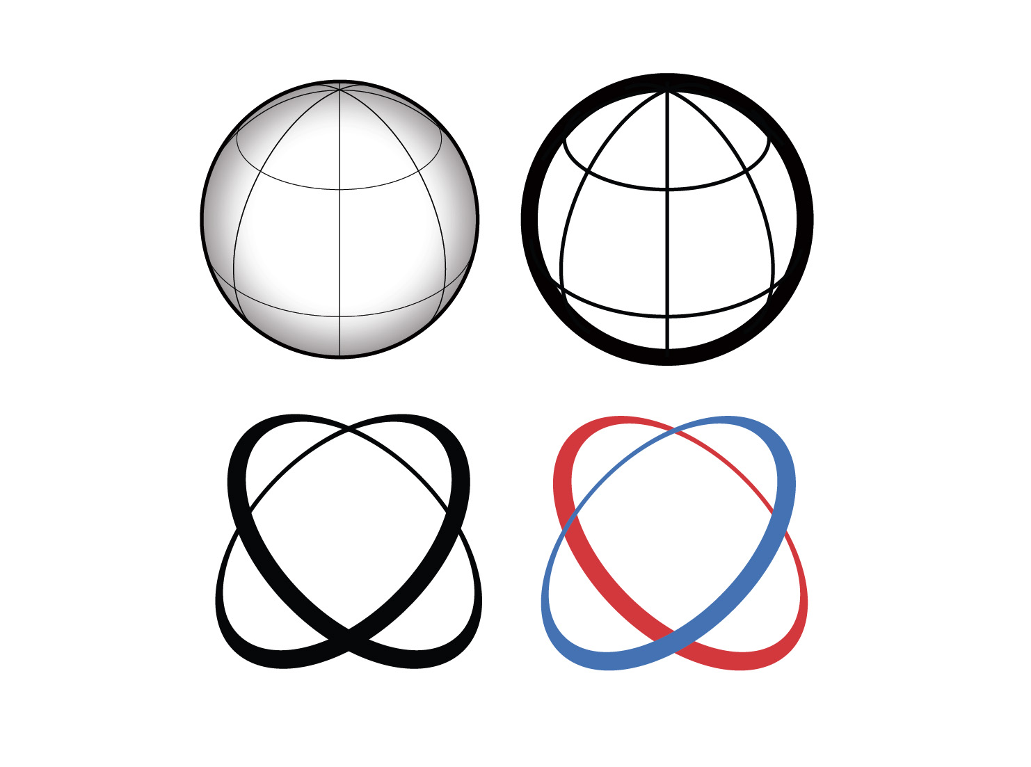 1482x1103 Vector Globe Icons With Axis Lines Trashedgraphics