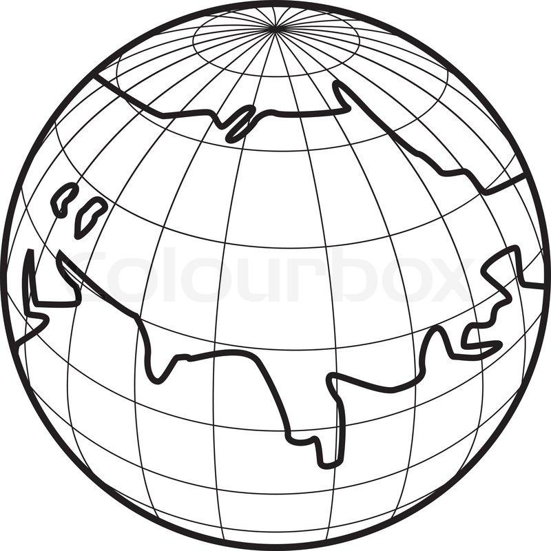 800x800 Vector Illustration Of Globe Icon Stock Vector Colourbox