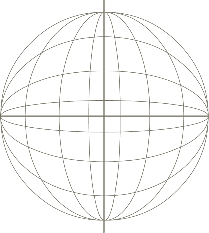 735x818 Earth Geographic Coordinate System Icon