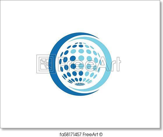 560x470 Free Art Print Of Globe Logo Vector. Globe Logo Vector Template