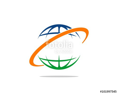 500x400 Ring Orbit Globe Logo Stock Image And Royalty Free Vector Files