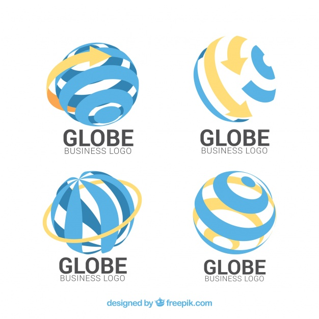626x626 Blue And Orange Globe Logo Collection Vector Free Download