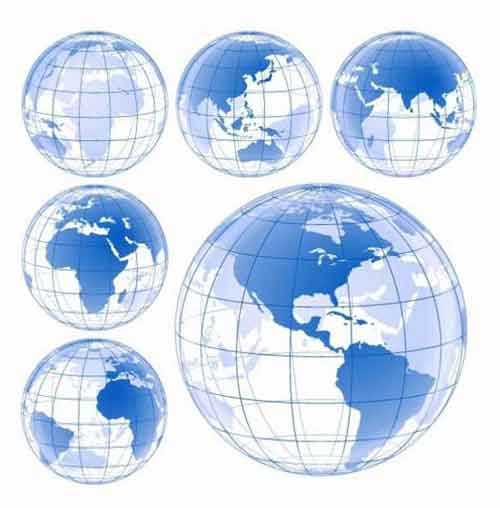 500x508 Vector Globe Graphics 30 Free Sets For Creating Modern Designs