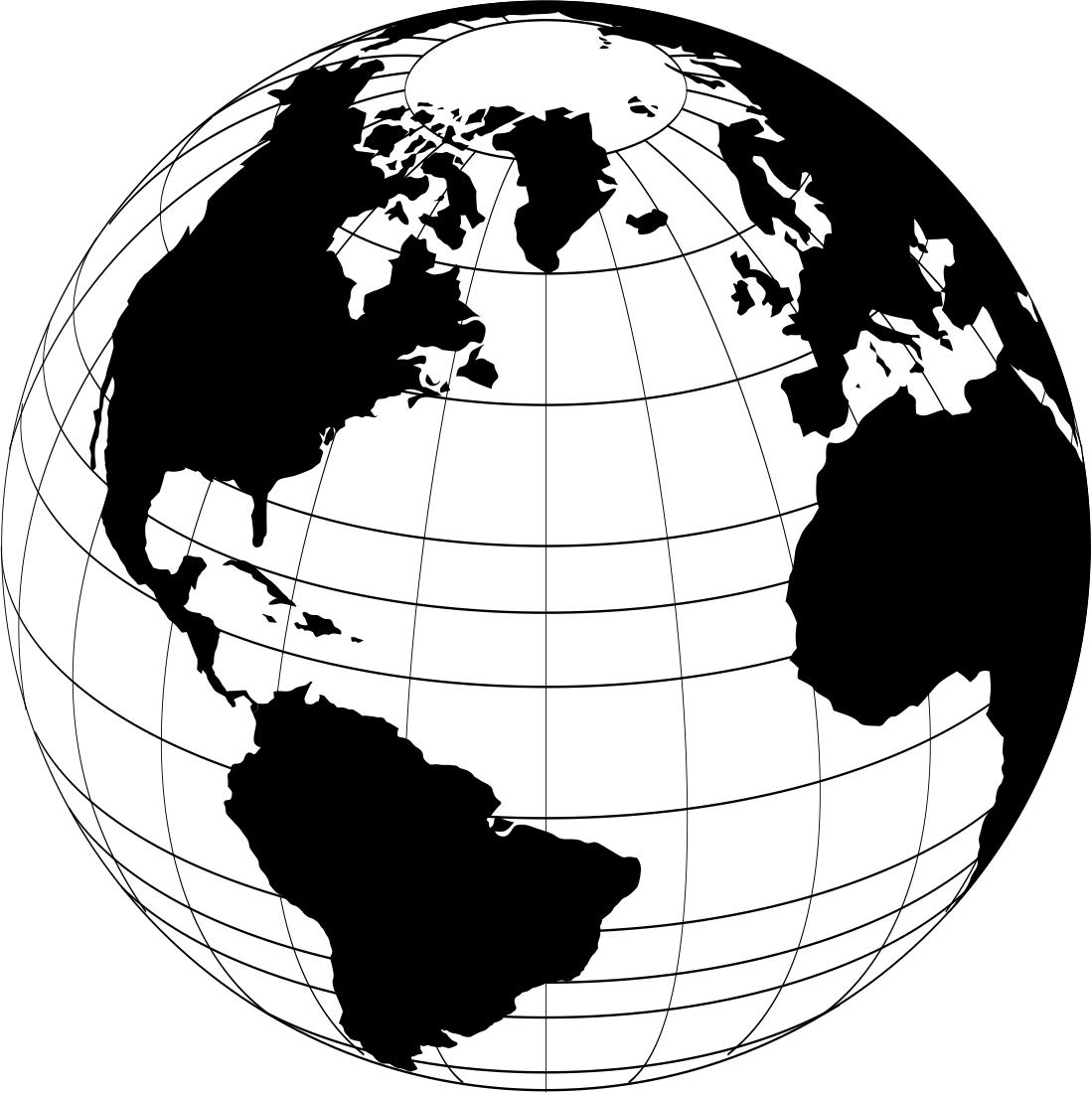 1099x1100 World Globe Vector Free Vector Download