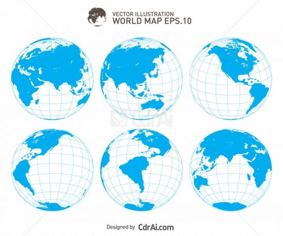 550x459 Earth Globe Vector Illustration Free Download Cdr Ai Eps