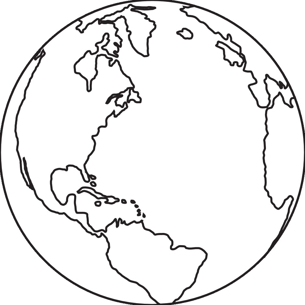 999x999 Earth Clipart Black And White 11 G Best Globe Vector Image For 12