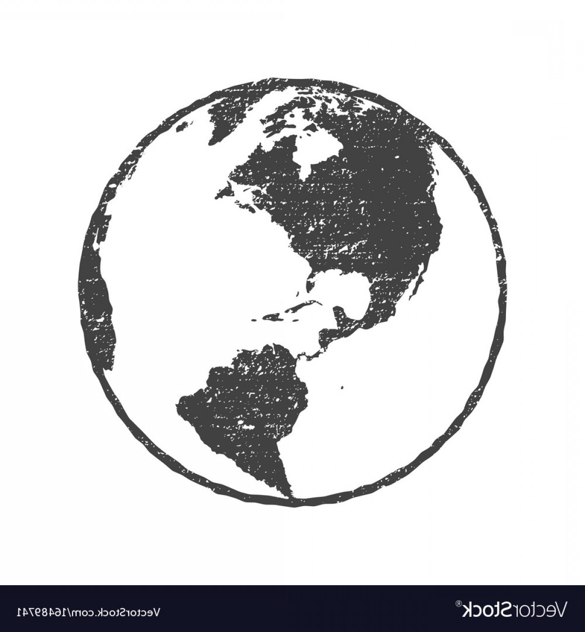 1200x1296 Grunge Texture Gray World Map Globe Transparent Vector Shopatcloth