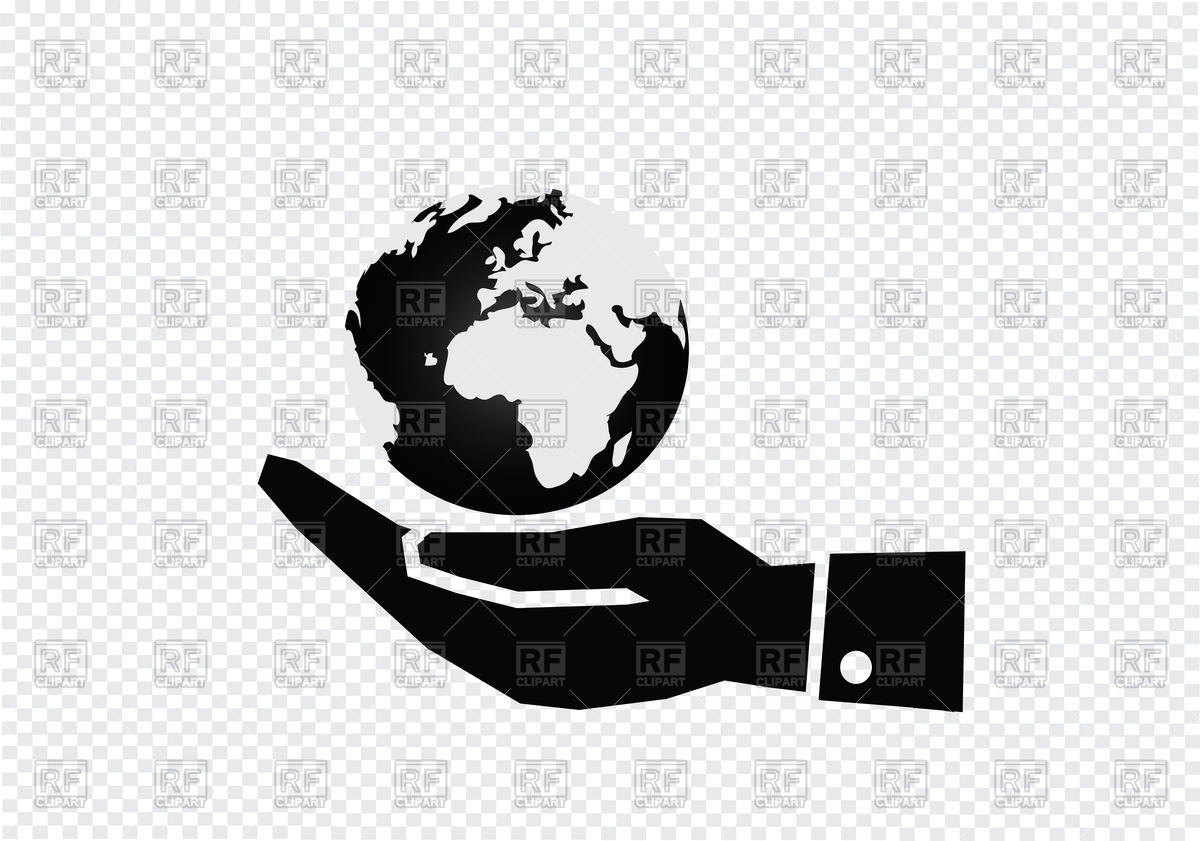 1200x841 Hand Holding World Globe Vector Image Vector Artwork Of Icons