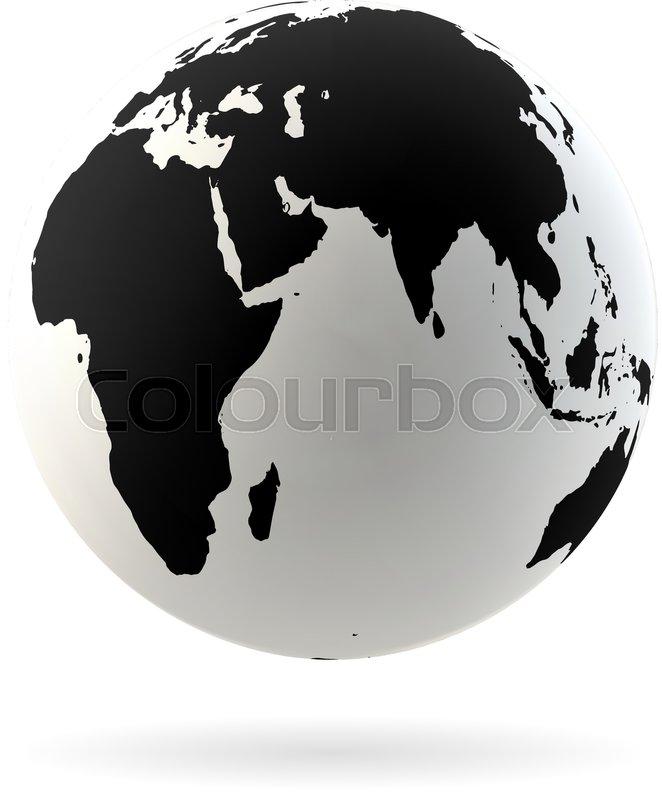 662x800 Highly Detailed Earth Globe Symbol, Arabian Countries, China