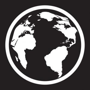 300x300 Icon Of Black And White Globe Vector Lazttweet