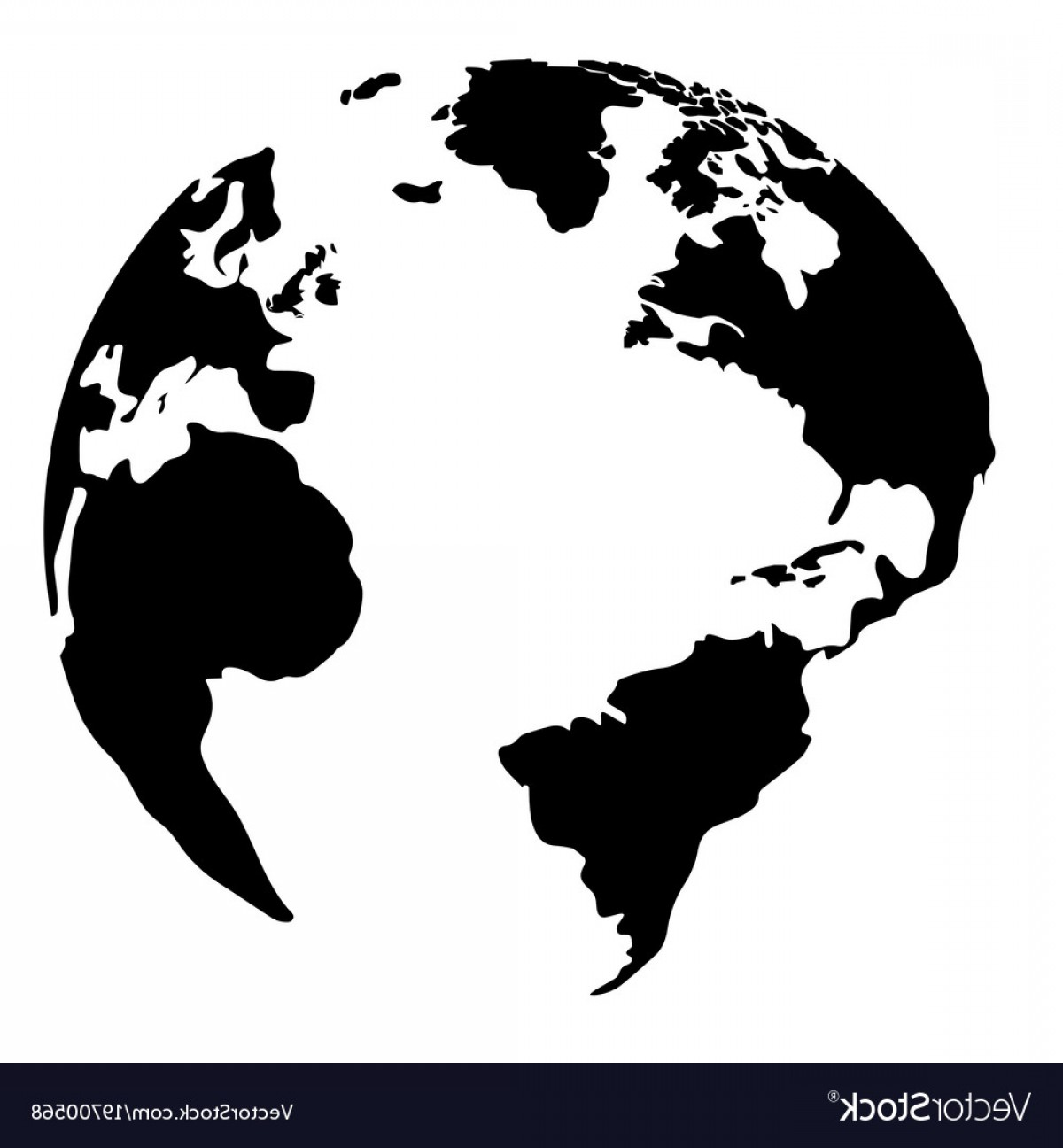 1200x1296 Silhouette Of A Globe Vector Lazttweet