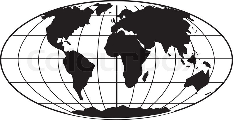 800x414 Simple Bampw Earth Globe Stock Vector Colourbox