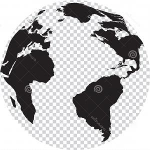 300x300 Stock Illustration Black White Globe Transparency Seas Vector