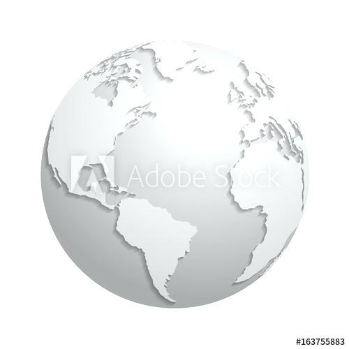 500x500 White World Globe Black And White World Globe Clipart