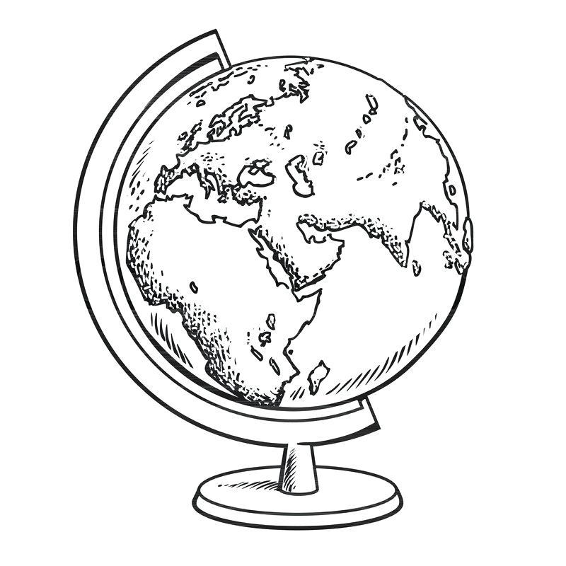 800x800 Black And White Globe Globe Black And White Best Globe Black And