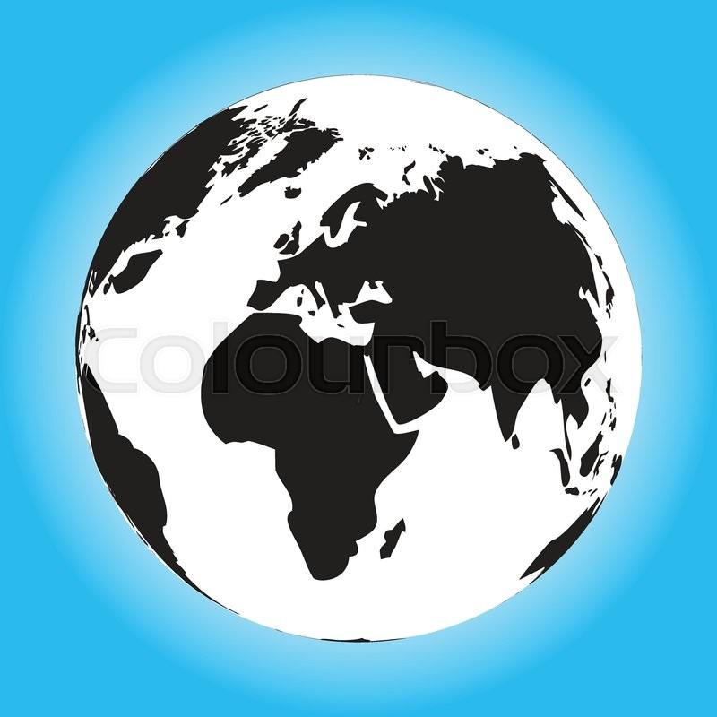 800x800 Black And White Globe. Black World And World Globe Black, Globe