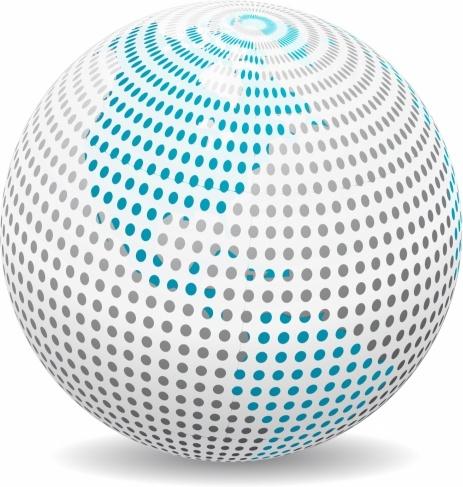 463x487 Globe Dotty Free Vector In Adobe Illustrator Ai ( .ai