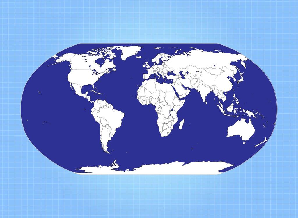 1024x750 Globe Vector Free Vector World Map