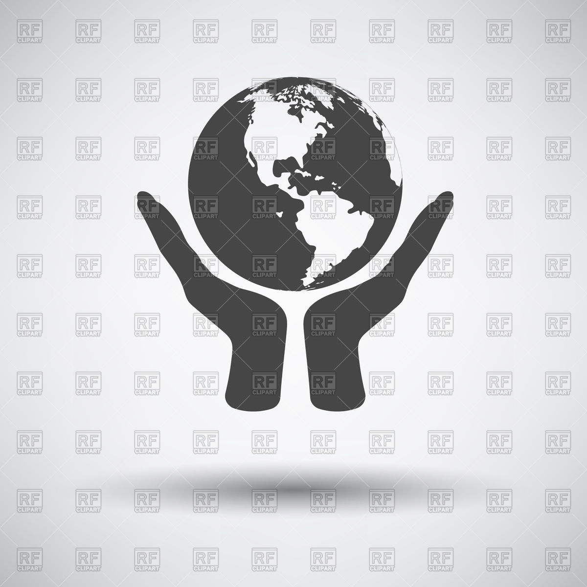 1200x1200 Hands Hold World Globe Vector Image Vector Artwork Of Signs