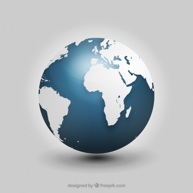 626x626 Realistic Globe Vector Free Download