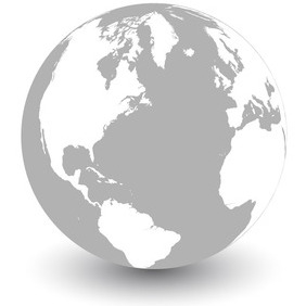 282x282 Vector Earth Globe Icons On Grey Background Free Vector Download