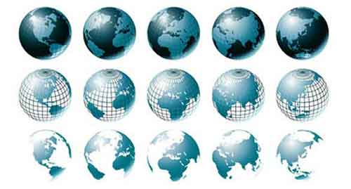 500x269 Vector Globe Graphics 30 Free Sets For Creating Modern Designs