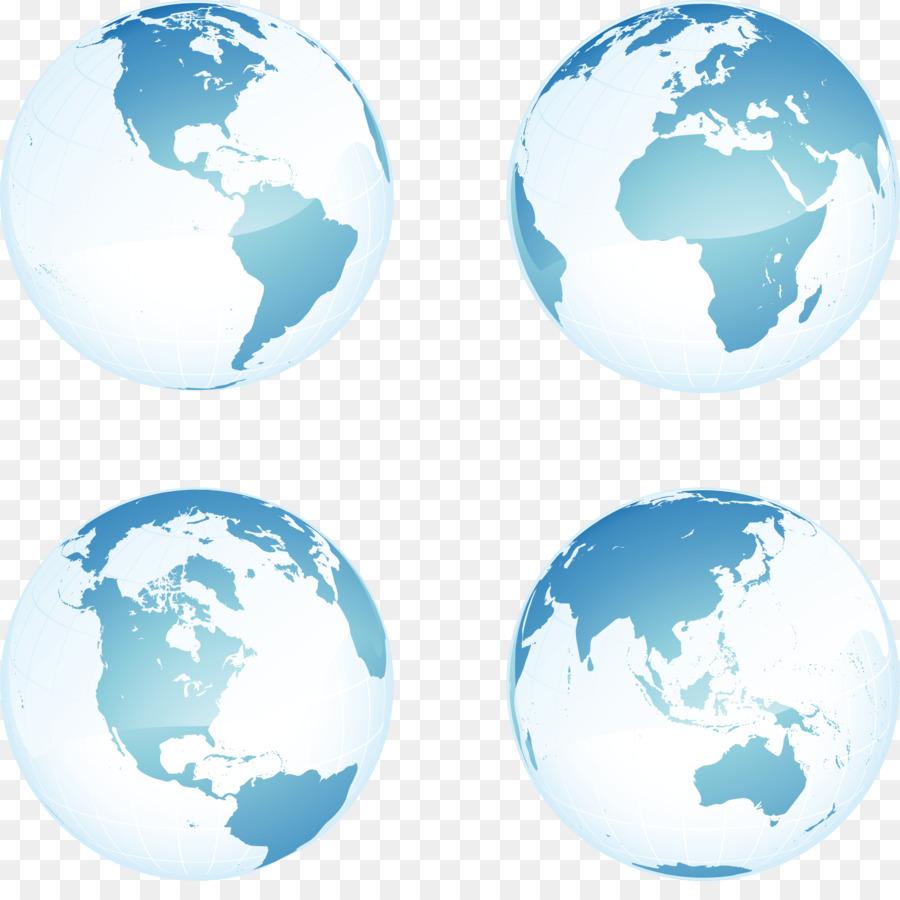 900x900 Earth Globe Vector Map