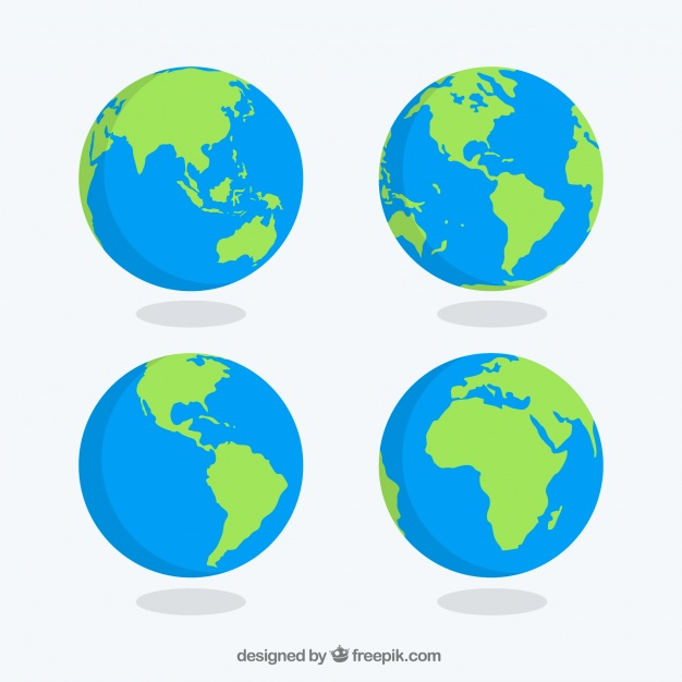626x626 Free Earth Globe Vector