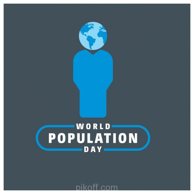 626x626 Ai] World Population Day Typography With World Globe Vector Free