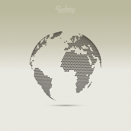 425x425 Dotted Globe Vector Free Vector Download In .ai, .eps, .svg Format